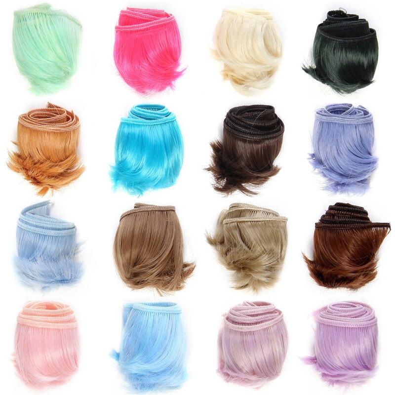 50 pcs. lot 도매 diy bjd 인형 머리 고온 합성 섬유 가발 머리 인형-에서인형 액세서리부터 완구 & 취미 의  그룹 1