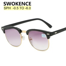SWOKENCE Prescription Sunglasses With Diopter SPH -0.5 -1.0 TO -5.5 -6.0