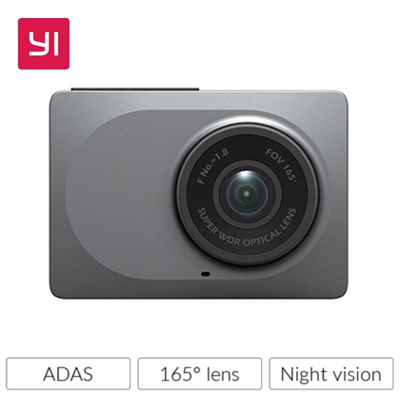 YI Камеры Черточки 2.7 экран Full HD 1080P60fps 165 градусов Широкоугольный Автомобильный ВИДЕОРЕГИСТРАТОР Автомобиль Dash Cam с G-Sensor Ночного Видения ADAS