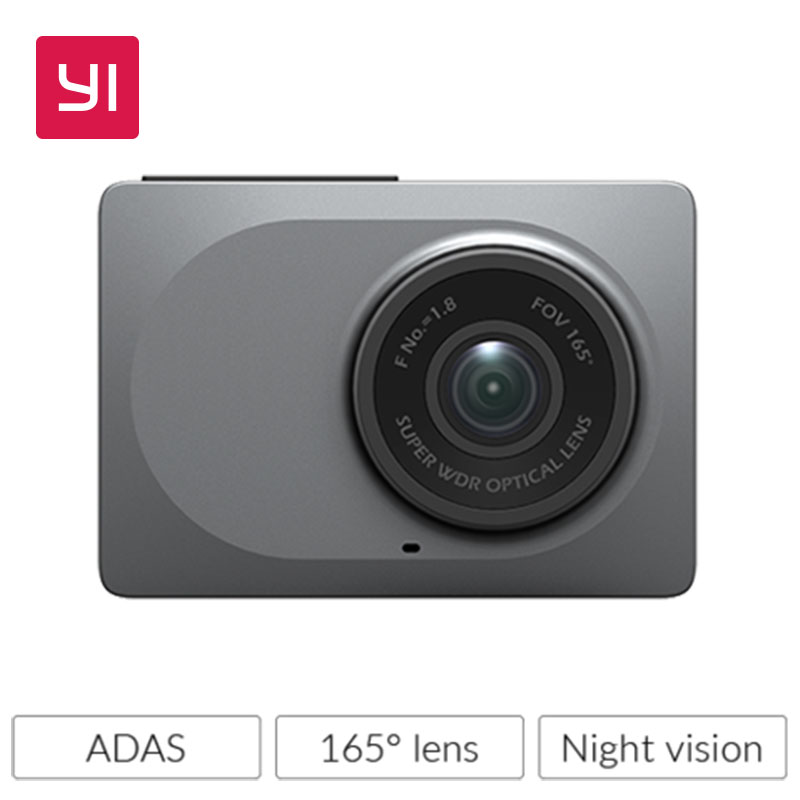 YI Dash Camera 2,7-tums skärm Full HD 1080P60fps 165-graders bredvinklig bil DVR-bildkamera med G-Sensor Night Vision ADAS