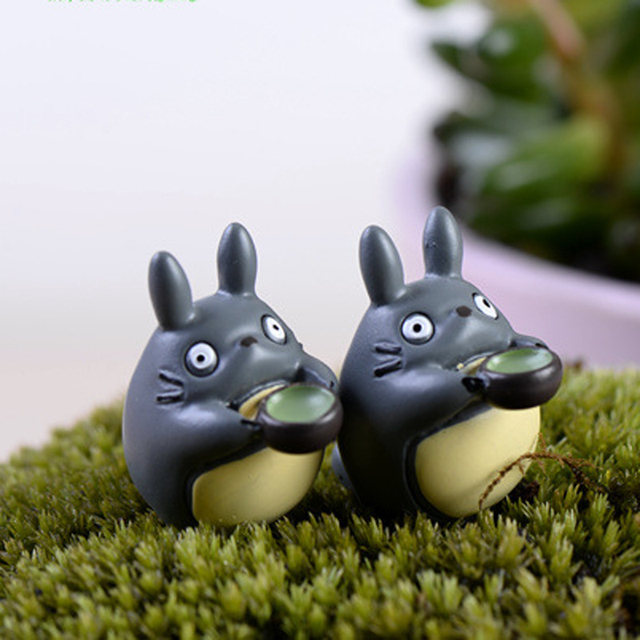 6pcs My Neighbor Totoro Drinking Resin Miniature Figurines Home Decoration  Accessories Bonsai Terrarium Fairy Garden Decor