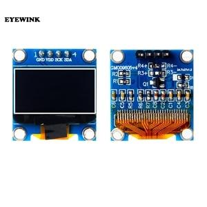 "Image 1 - 10 stks/partij Blauw of wit 128X64 0.96 inch OLED LCD LED Display Module Voor Arduino 0.96 ""IIC SPI Communiceren 3.3 V 5 V"