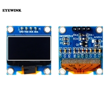 """10 sztuk/partia niebieski lub biały 128X64 0.96 cal moduł wyświetlacza led OLED LCD dla Arduino 0.96 """"IIC SPI Communicate 3.3 V 5 V"""