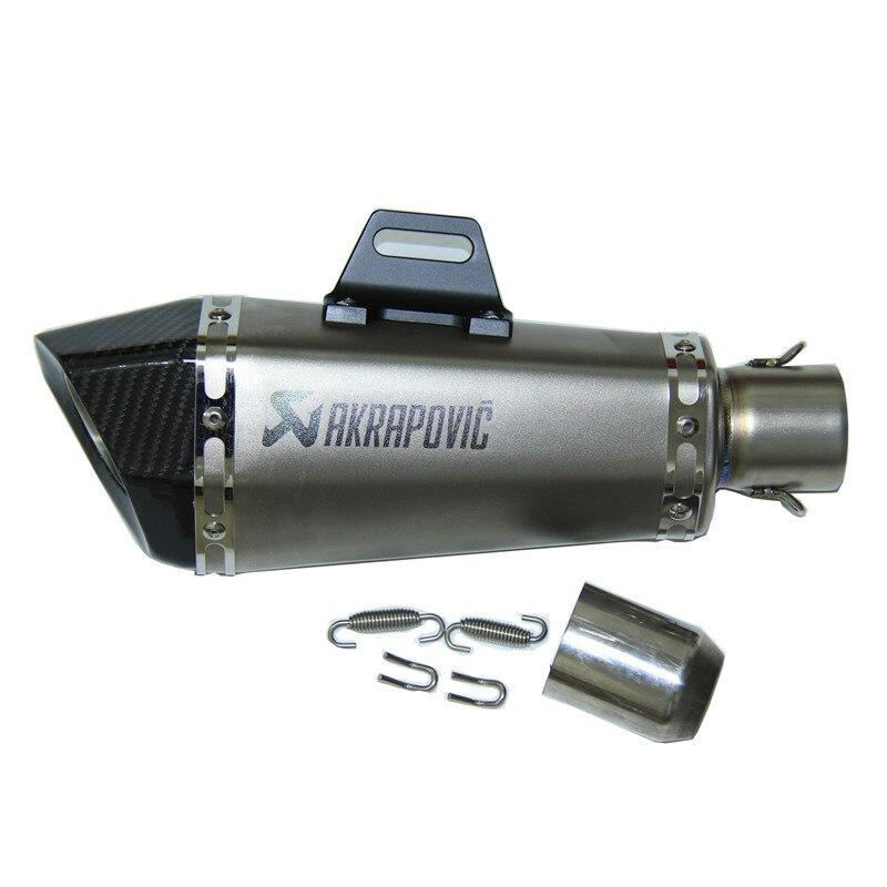 Скорость Скорпион 51 мм Street мото Akrapovic выхлопная труба Yoshimura углеродного волокна двигателя для побега Z800 Z750 TMAX530 ER6N KTM ниндзя