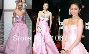 Celebrity-Dresses Pink Formal Long Ball Prom-Gown Robe-De-Soiree Vestidos Party Elegant