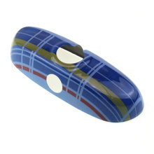 Blue Tartan Color Stripes Interior Rear View Mirror Cover Cap For MINI Cooper F55 F56