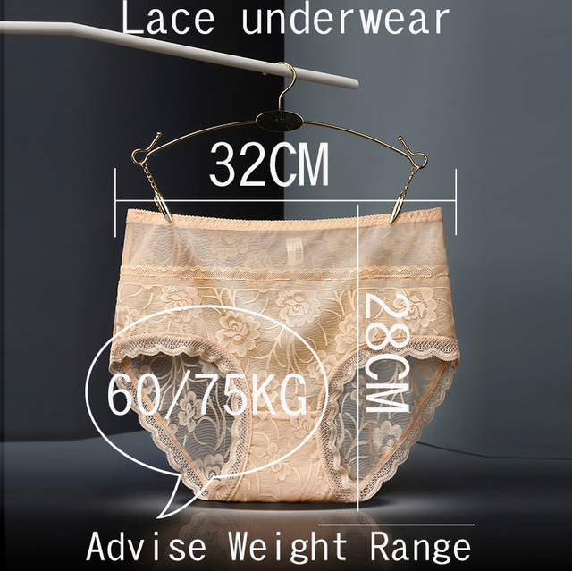 Underwear Women Sexy lace seamless ladies' underwear buttock high waist large size triangle underwear cotton crotch women's panties