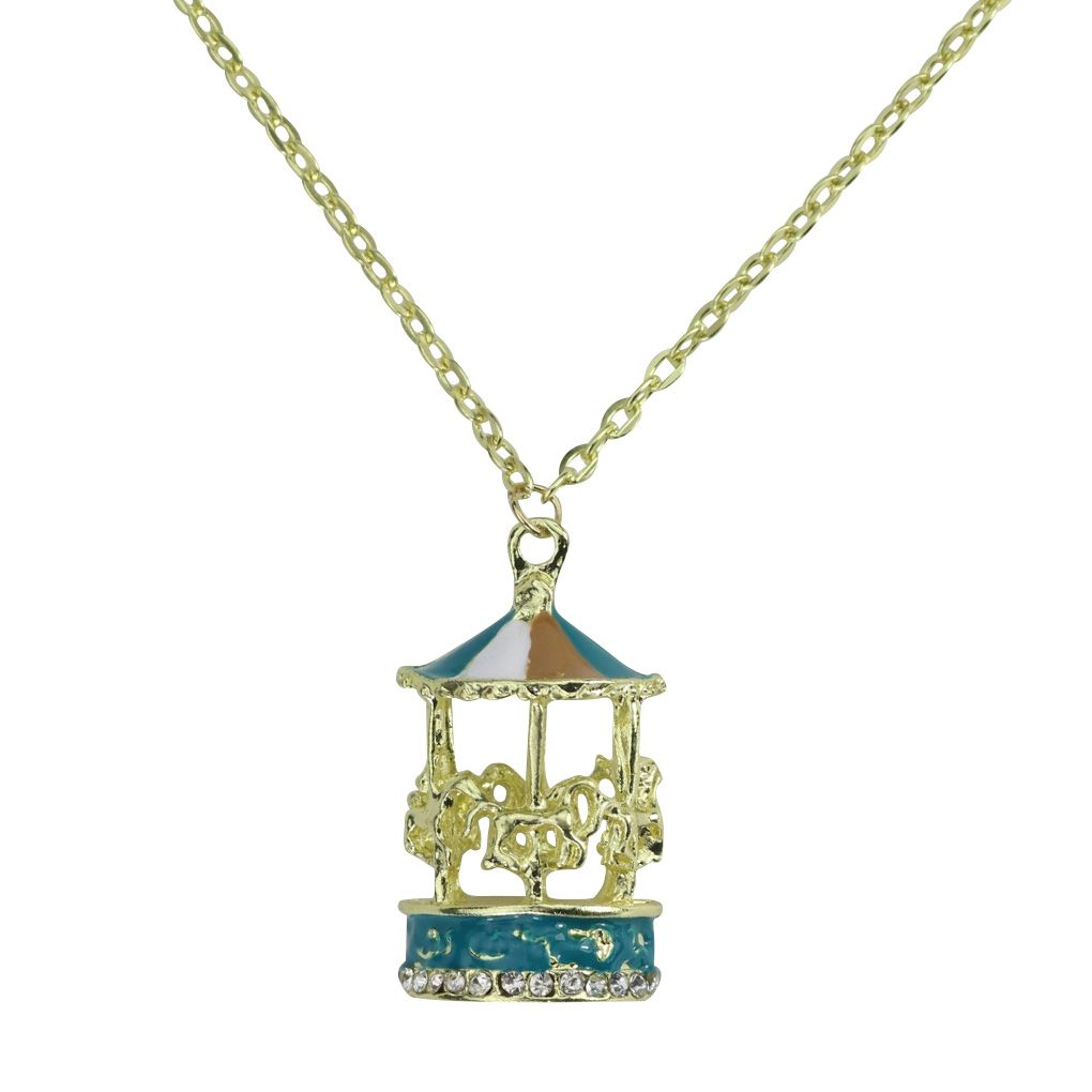 Special Design Hot Style Merry-go-round Long Necklace Carousel Choker Sweater Chain Jewelry