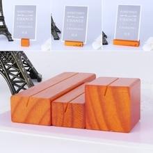 Натуральный деревянный блок фотографии клипов карточка держатель Зажимная стойка декор стола