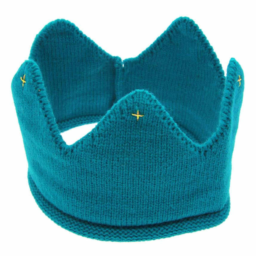 Para o cabelo para crianças Headwear New Bonito Cabelo do bebê Das Meninas Dos Meninos GJUNO14 Coroa Headband Do Knit Hat crianças verão