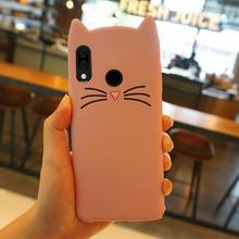 Redmi 4A 5A Case 3D Cute Beard Cat Ears Cover For Xiaomi mi 8 8se Silicone Soft TPU Glitter Back Coque Note 4X 5X S2 4 3