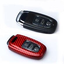 Carbon Fiber Remote Fob Key Case Shell Cover For Audi A4 S4 A5 S5 B8 8K B8.5 A6 S6 C7 A7 S7 4G8 A8 S8 4H Q5 SQ5 8R A8 RS 4 5 6 7