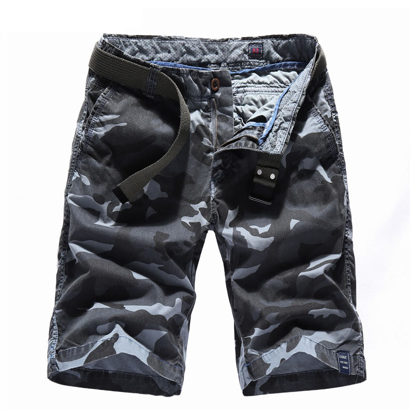 2018 Summer Camouflage Camo Cargo Shorts Mens Casual Shorts Male Loose Work Shorts Man Military Short Pants Plus Size