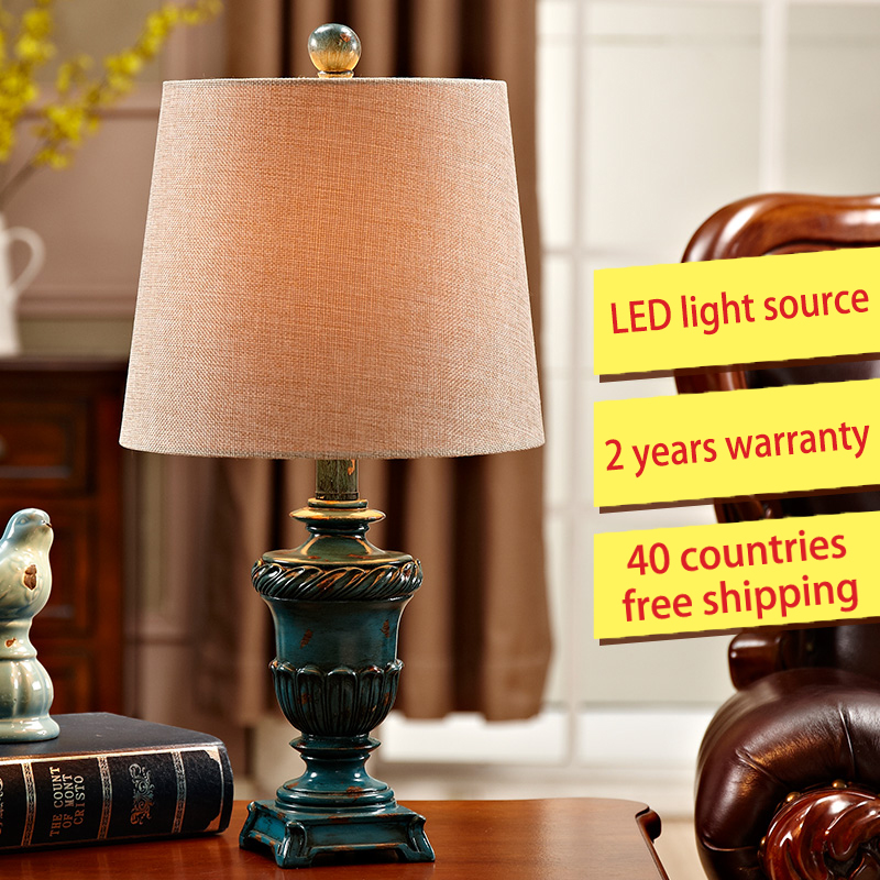 The bedroom lamp bedside lamp Nordic modern European American country retro minimalist living room decorative lamp lamps new crystal pendant lights nordic european style living room restaurant bedroom modern minimalist american country iron