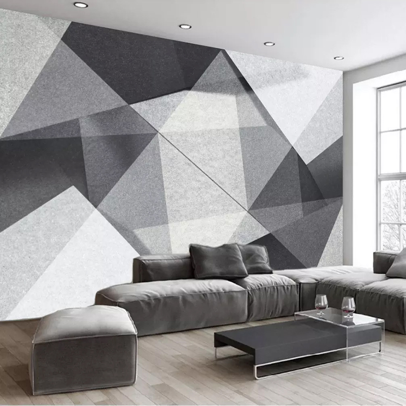 Custom Mural Wallpaper Modern Minimalist 3D Stereoscopic Geometry Polygon Living Room Background Photo Wall Paper Wall Painting