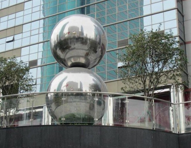 Stainless steel hollow decoration ball metal ball furnishings home & garden Decoration improvement  80mm, 90mm 100mm one set.