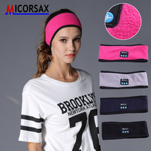 Sports Headband Wearable Headphone Stereo Music Wireless Bluetooth Hat Headset with Mic Answer Call for Running Leisure Music