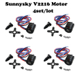 4set/lot Sunnysky V2216 900KV 800KV 650KV Brushless Motor for 4-axis Multiaxial Quadrocopter Multirotor Hexa Aircraft