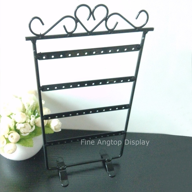 Metal Earring Display Stands Quality Black Metal Earring Display Stand Holder 40 Holes Jewelry 24