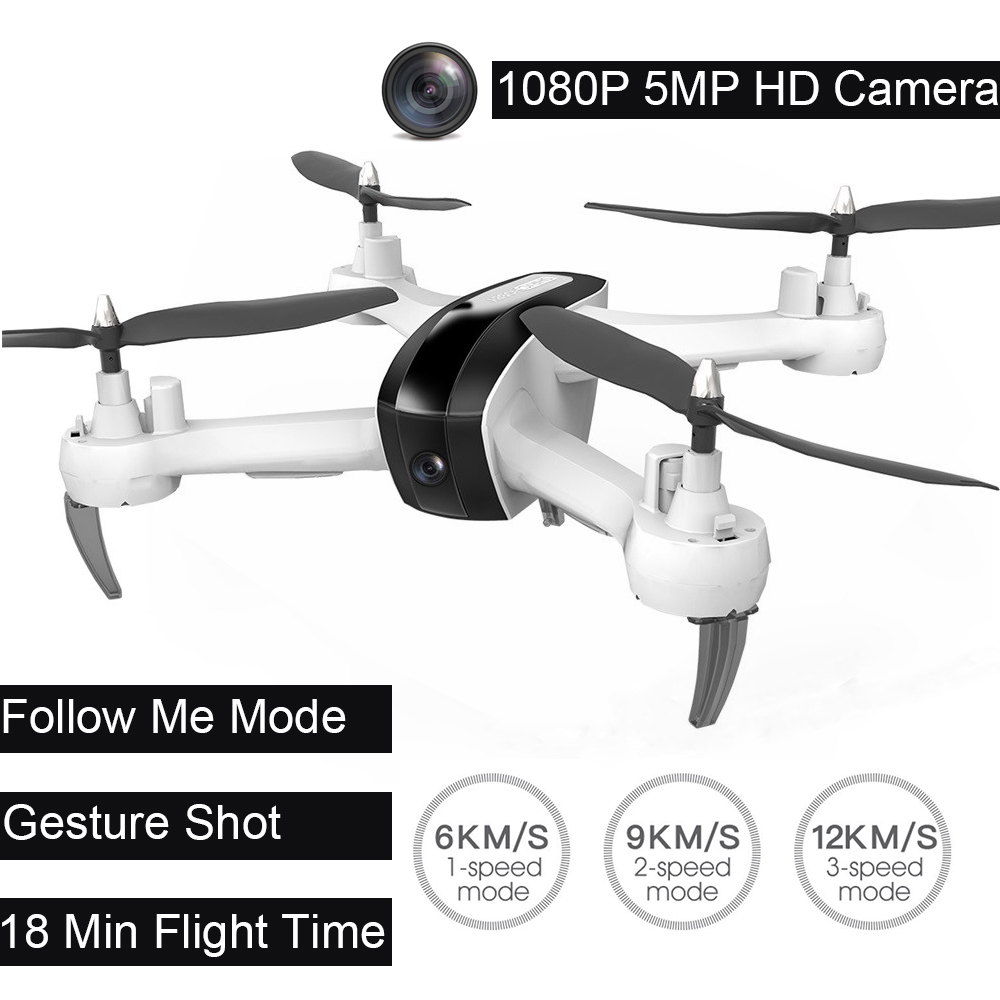 1080 p DRON HR SH7 WIFI FPV Cámara altitud Hode Geature Selfie inteligente seguimiento quadcopter Control remoto Drone con cámara
