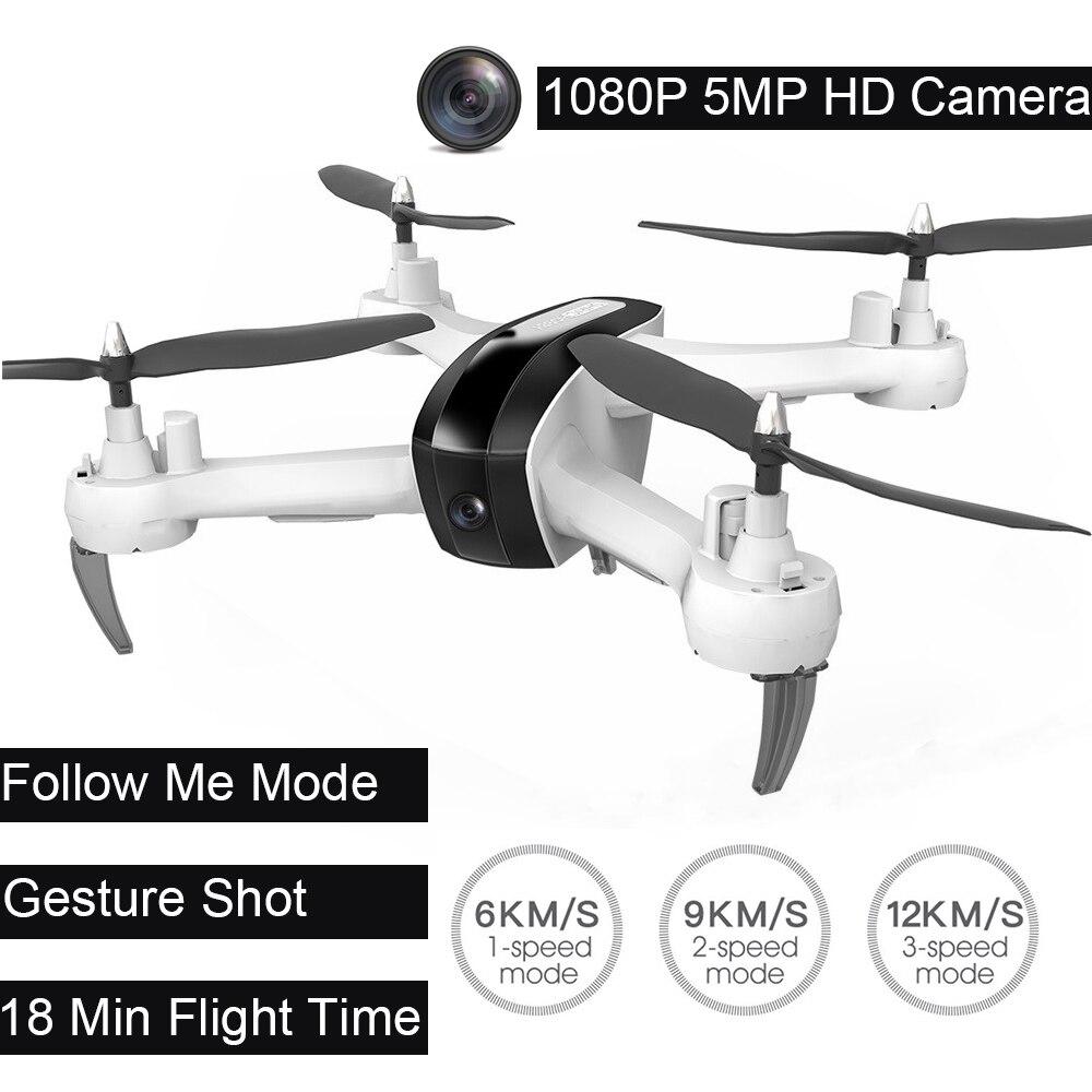 1080 p DRON HR SH7 WIFI FPV Macchina Fotografica Altitudine Hode Geature Selfie Intelligente Seguire Quadrocopter Telecomando Drone con la Macchina Fotografica