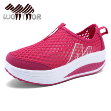 LUONTNOR 2018 Air Mesh Fitness Sneakers Women Summer Red Mes