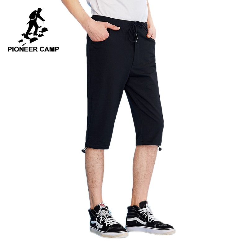 1979fbaebf Pioneer Camp solid calf length pants men brand clothing summer thin ligh  trousers male top quality stretch black AZZ801166-in Casual Pants from Men's  ...
