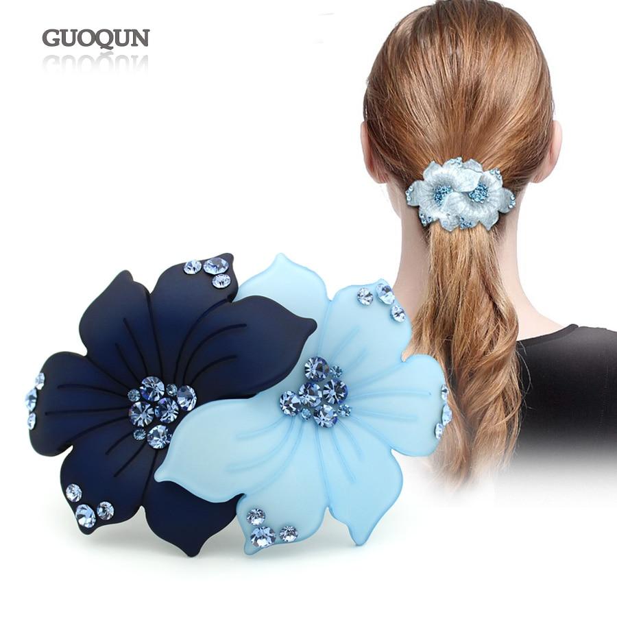 Pince à cheveux fleur - accessoire de cheveux - ornement de bijoux - Bijoux fantaisie - Photo 2
