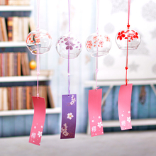 Japanese-Style Cherry Wind Chimes Creative Glass Hanging Decorations Exquisite Cherry Blossom Wedding Birthday Party Gifts cute cherry blossom style soap red white 2 pcs