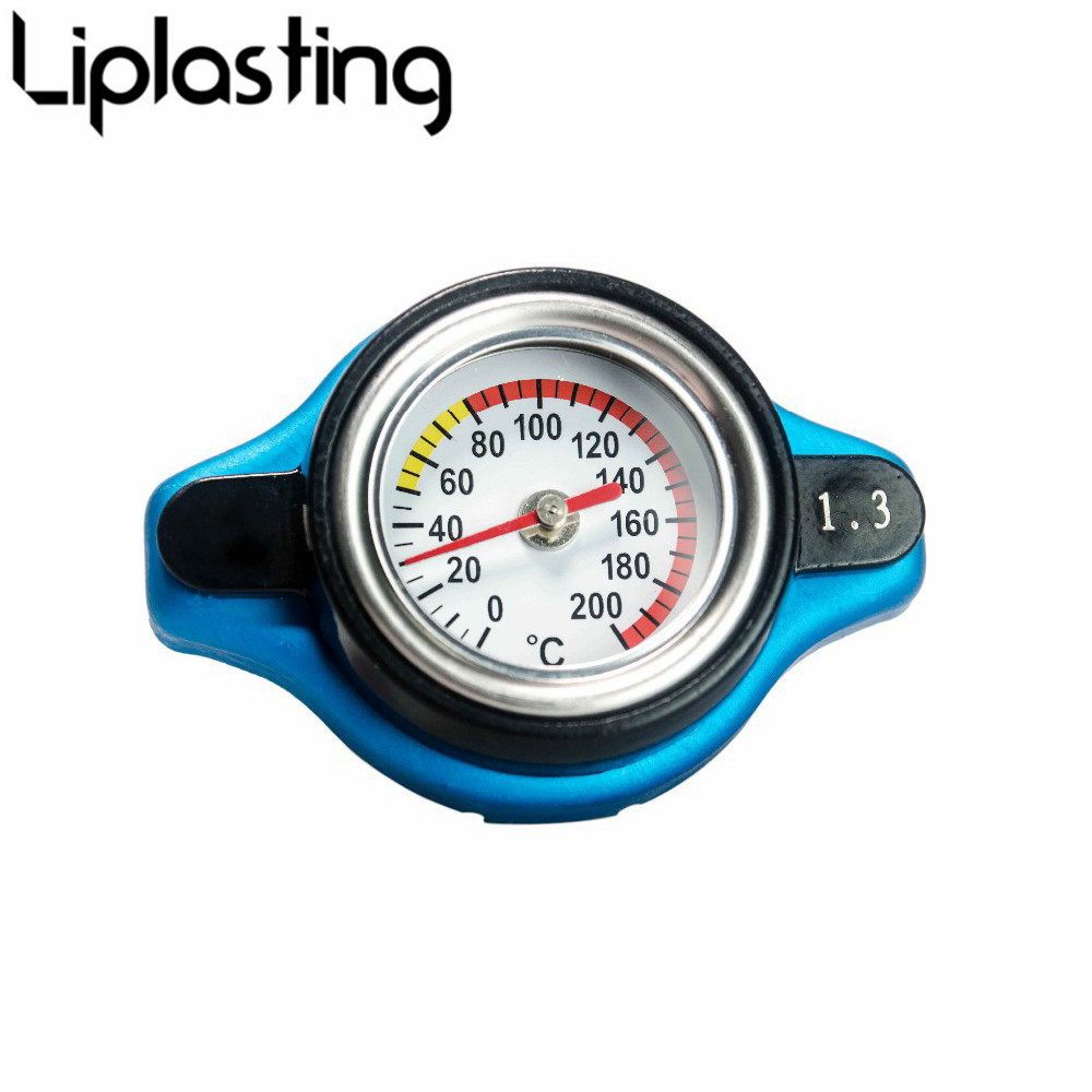 Small Head 1.3 Bar Thermost Radiator Cap Cover Water Temperature Gauge Universal