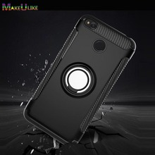 hot deal buy makeulike case for xiaomi redmi 4x 4a 4 pro cover ring armor kickstand phone back cases for  xiaomi redmi 4a 4x 4 4pro capinhas