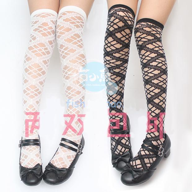 Meninas doce japonês Lolita rendas meias coxa alta meias para mulheres maid cosplay meia verão