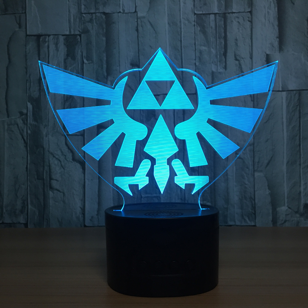 The Legend of Zelda 3D Table Lamp Link Zelda BREATH OF THE WILD LINK Nightlight 7 Color Changing Visual Illusion Light the common link