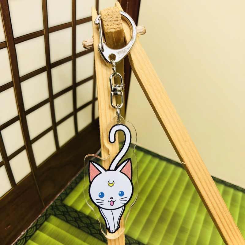 Sailor Moon moda Anime acrílico llaveros de dibujos animados llavero colgante juguetes llavero regalos de cumpleaños Unisex nuevo