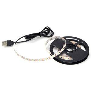 Image 4 - 1m 3m 5m IP20 3528 SMD DC 5V USB ładowarka zasilacz taśmy LED RGB pilot USB adapter do kabla lampa LED lampa ozdobna