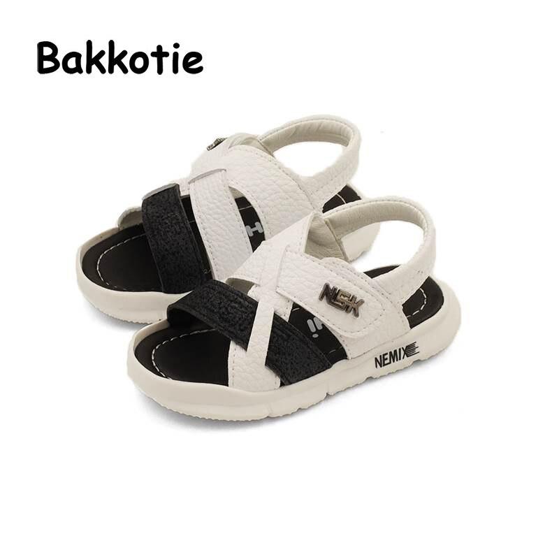 Bakkotie 2018 Summer Baby Boy Fashion Beach Sandal Children Pu Leather Casual Flat Girl Brand Soft Black Shoe Sport Toddler