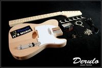 DIY Electric Guitar Kit Bolt On Neck Bass Wood Unfinished