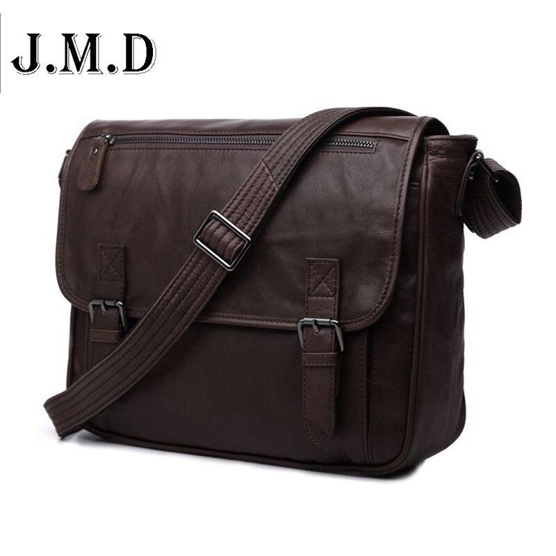Hot Sale Vintage casual genuine leather men Messenger bag Shoulder bags for men CrossBody business package 7022C freeshipping