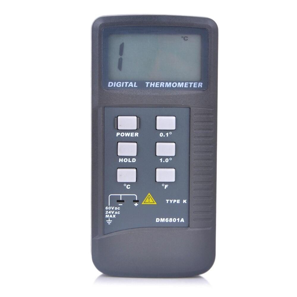 Alta Precisione Display Lcd Digitale Termometro Pirometro Misuratore di Temperatura con Tipo K Sonda di Campo di Misura 50 1300 Gradi