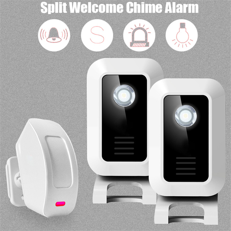 Welcome Shop Store Home Welcome Chime Wireless Infrared IR Motion Sensor Door bell Alarm Entry Doorbell Reach 150m 25 50 mm electronic digital micrometer outside micrometer one
