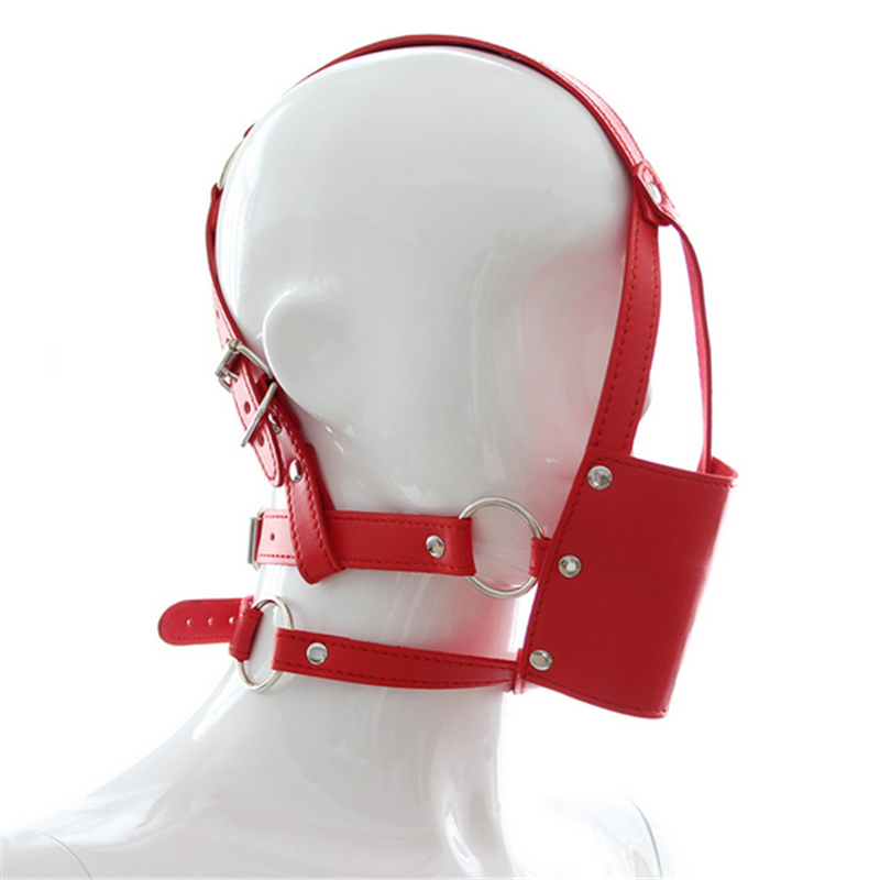 New Fetish Leather Mask Mouth Flail Ball Gag Open Mouth Oral Sex Sexy Flirting Slave Erotic Toy Bondage Sex Toy For Coluple