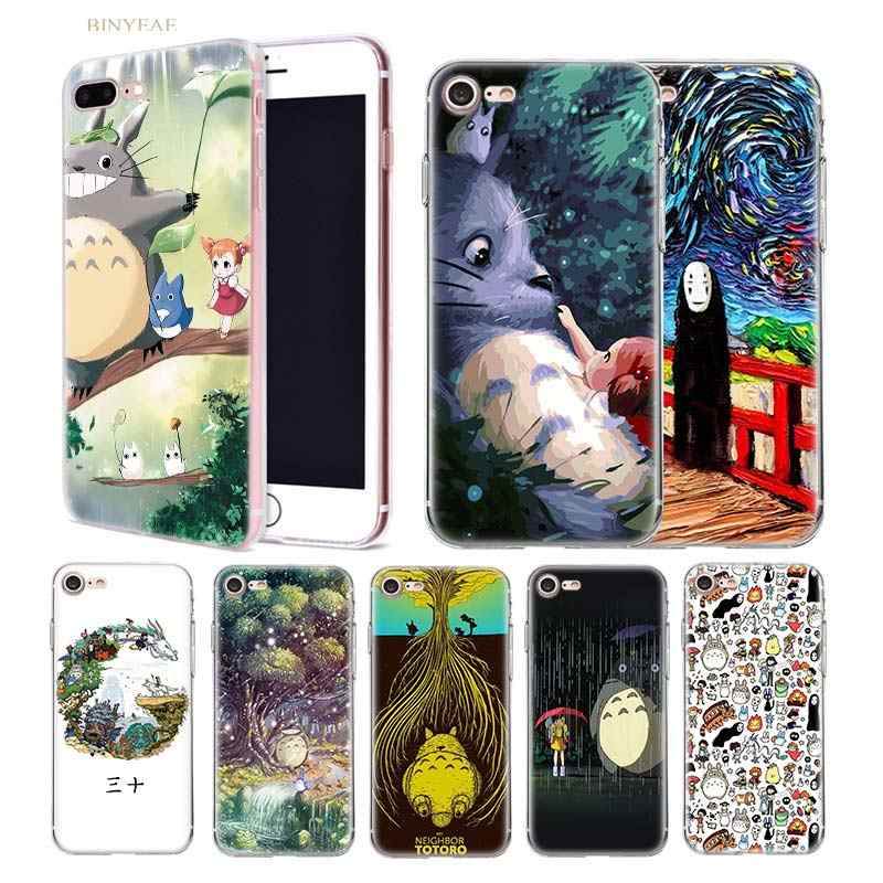 Аниме Чехол для iphone XR XS Max 5 5SE 5C 6 6 S 7 7 S 8 Plus X 10 силиконовый прозрачный TPU Coque Cover Shell Cute Studio Ghibli Totoro