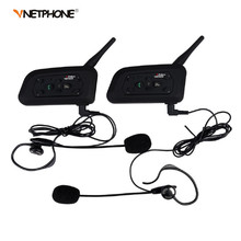 2pcs V6C Football Referee Headset BT Intercom Full Duplex 2Users 1200M Interphone Max 6Users Bluetooth Wireless Earphone Speaker