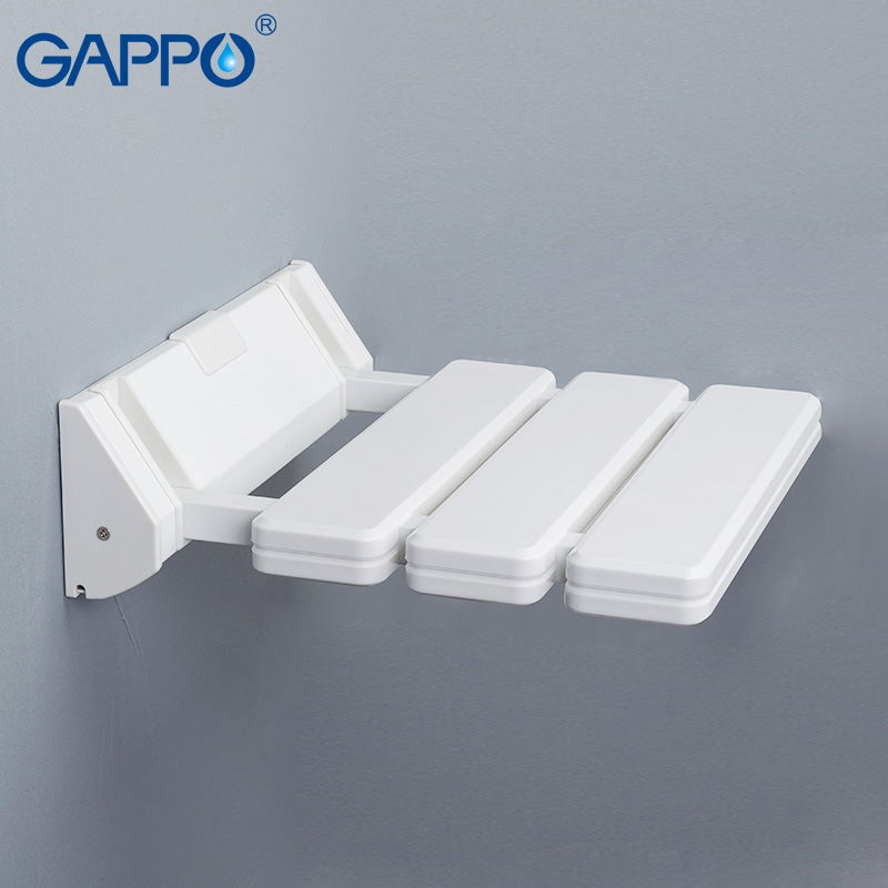 GAPPO Wall Mounted Shower Seat Shower Folding Seat For Elderly Toilet Bath Stool Bathroom Seats For Seniors And Elders