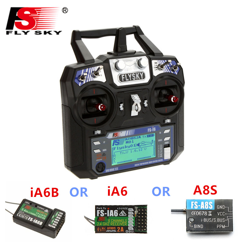In Stock FlySky FS-i6 FS I6 2.4G 6CH AFHDS RC Transmitter Controller iA6B A8S iA6 Receiver For RC Helicopter Quadcopter flysky fs i6 fs i6 2 4g 6ch rc transmitter controller fs ia6 or ia6b receiver for rc helicopter plane quadcopter mode 1 mode 2