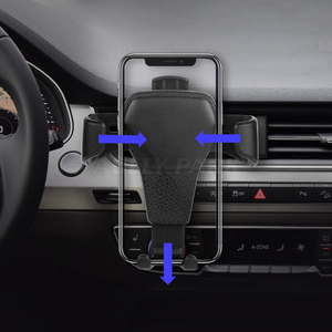 Image 5 - Car Phone Holder For Iphone X8 Samsung HUAWEI Mobile Phone Holder One hand Operate Phone In Car Air Vent Mount Stand