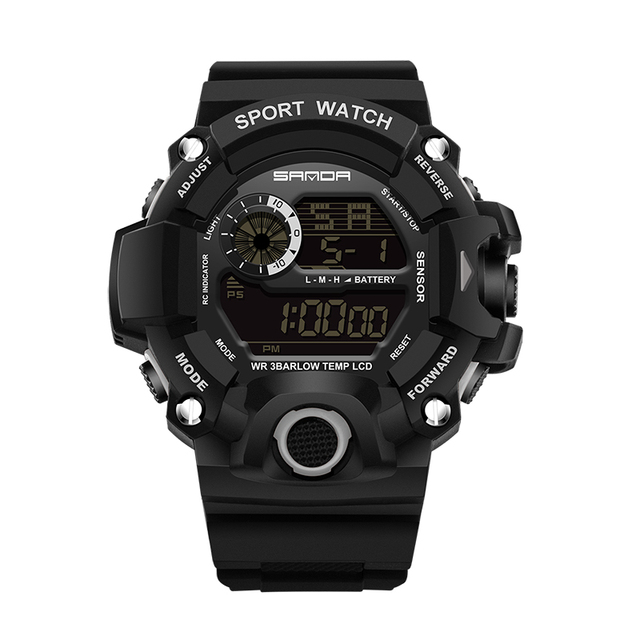 2018 SANDA Fashion Sports Digital Watch Men Diving Sport LED Clock for Men Waterproof Geneva Military Watches Relojes hombre 326