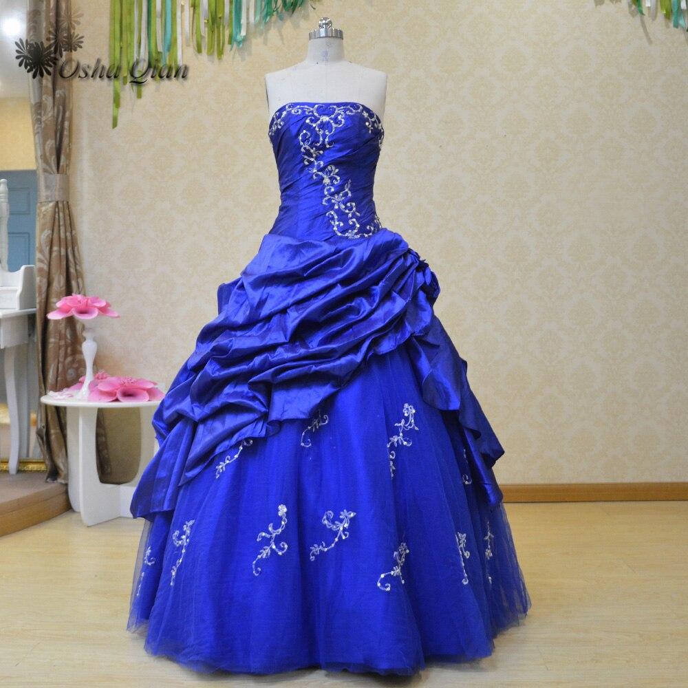 Vestidos De 15 Anos Baile Embroidery Royal Blue