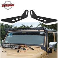 WISENGEAR Black Steel LED Light Bar Mount Bracket For Jeep Wrangler JK 2007 2017 LED Light