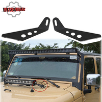 WISENGEAR Black Steel LED Light Bar Mount Bracket For Jeep Wrangler JK 2007 2017 LED Light